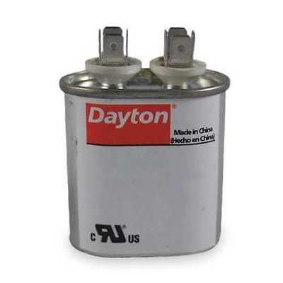 H DAYTON 22F163 Motor Run Capacitor,2 MFD,1-1//2 In