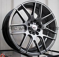 17x8 +35 F1R F18 5X114.3 HYPER BLACK WHEEL Fit Mazda 3 6 MIATA MX5 Kia Soul Rav4