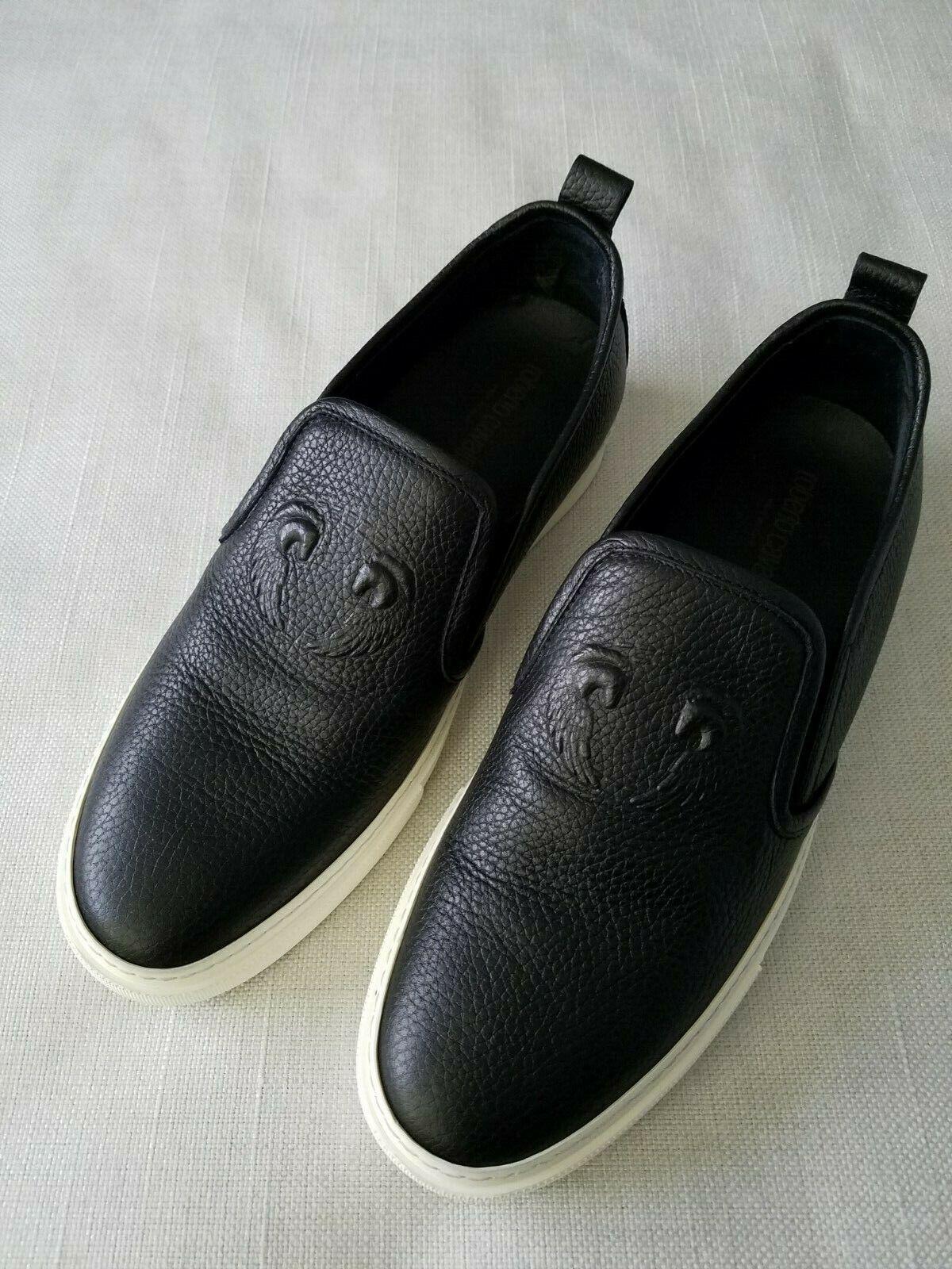 New Mens  Roberto Cavalli  Leather Casual scarpe