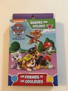 Paw Patrol Shapes And Colors Educational Cards Nickelodeon New Ebay