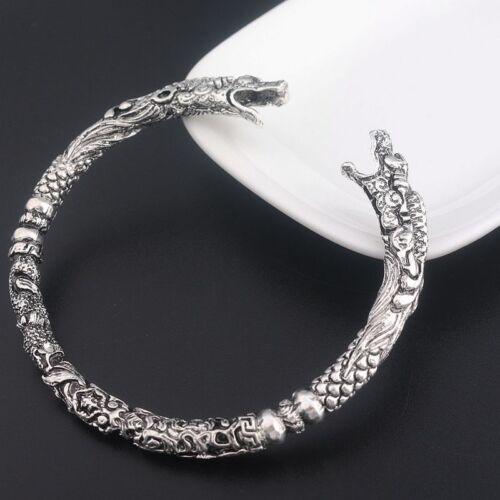 Viking Wolf Bracelet Two Headed Wolf Men Bangles Wristband Fashion Jewelry