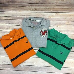 902855631 Lot of 3 - American Eagle Outfitters Men s Polo Short Sleeves Shirt ...