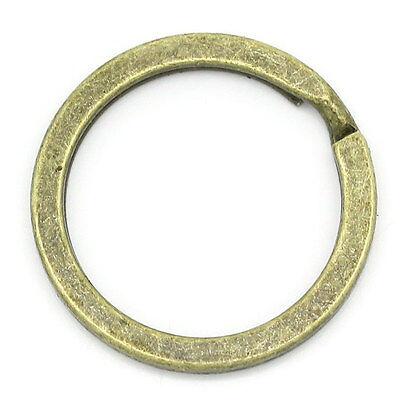 10 x bronzefarbene Schlüsselring 25 x 1,7 mm Ring