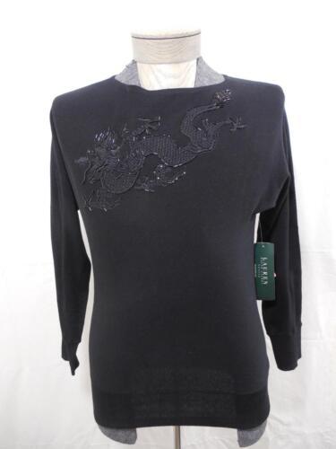 Dragon Sort Lauren 886765475518 Dame Sweater Silk Tråd Perle Broderet Raglan Pm Ralph a7qCEn7