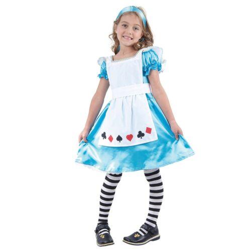 Girls Alice in Wonderland Costume Children/'s Book Week Fancy Dress Character