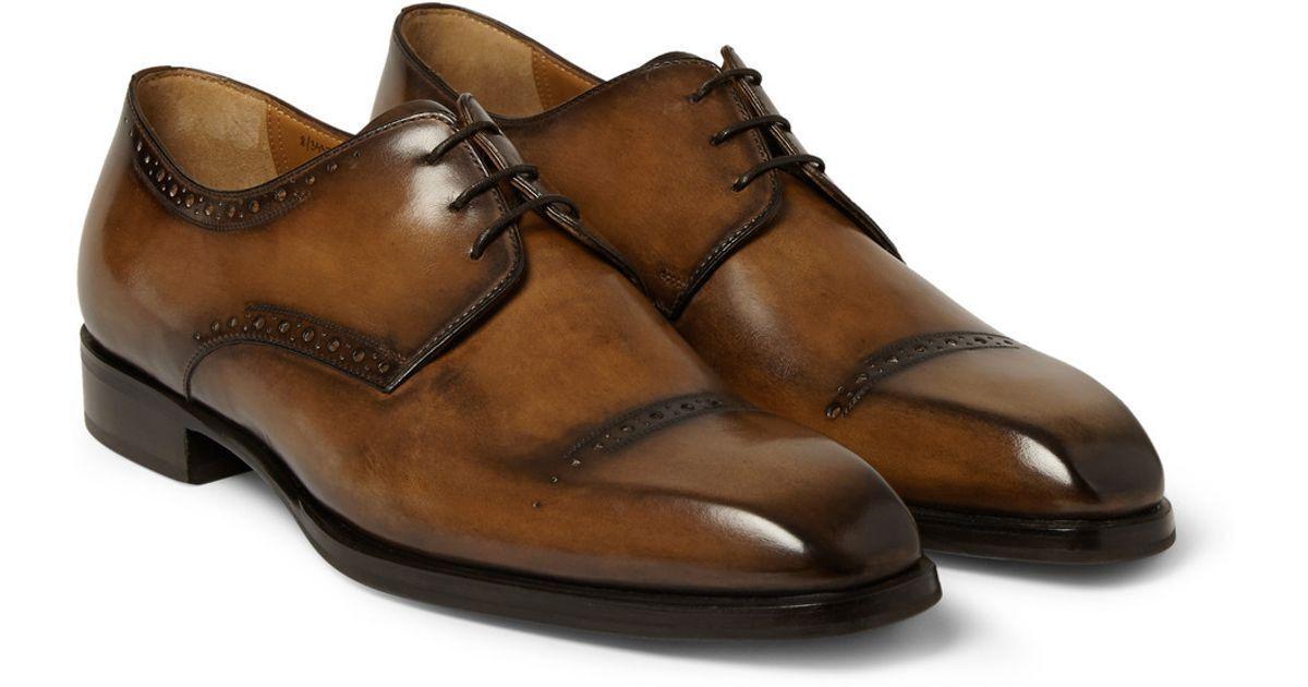 Zapatos de vestir hecho a Mano Hombres Zapatos Con Sombra Marrón, Zapato De Cuero Para Hombre Estilo Brogue, para hombre