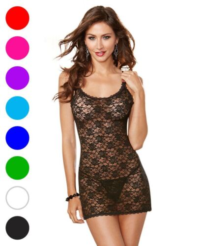 Dreamgirl 9818 Stretch Lace Chemise And Panty