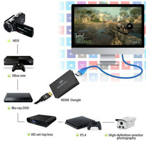 HDMI to USB 3.0 Video Capture Card Dongle PS3 PS4 Game Capture HD Live Streaming