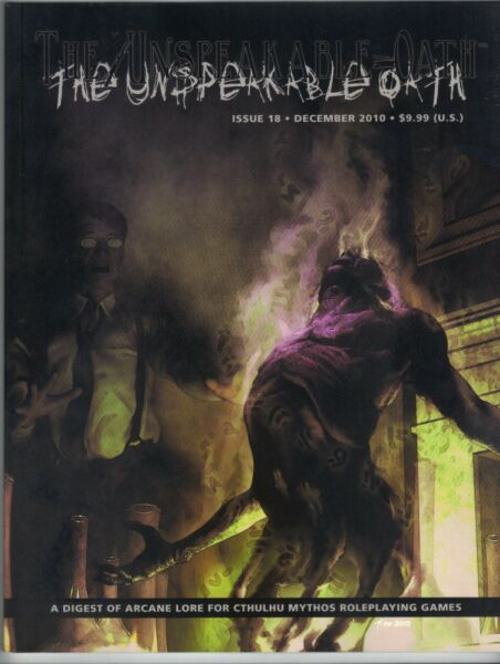 The Unspeakable Oath Var Issue Call Of Cthulhu Motred Death Price Incl Del In Uk