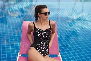 Super günstig Neueste Mode kostenloser Versand Details zu Anita Badeanzug Michella Schwarz Weiß Größe 38-52 Cup B-E  Bademode Strand L97305