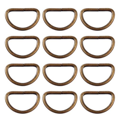 25x Halbringe Halbring Halbrund Antik Gurtband D Ring D-RING D Gürtel Zubehör