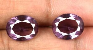 Pink Sapphire Loose Gemstone Pair 4.10 Ct Transparent Natural Oval Cut Certified