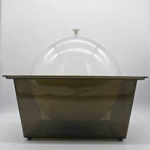 SPACE AGE Vintage Mid Century HUGE Acrylic Serving Bowl & Lid Chilled Food