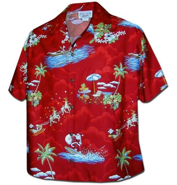 Christmas Hawaiian Shirt Womens.Womens Christmas Santa Claus Hawaiian Shirt Red