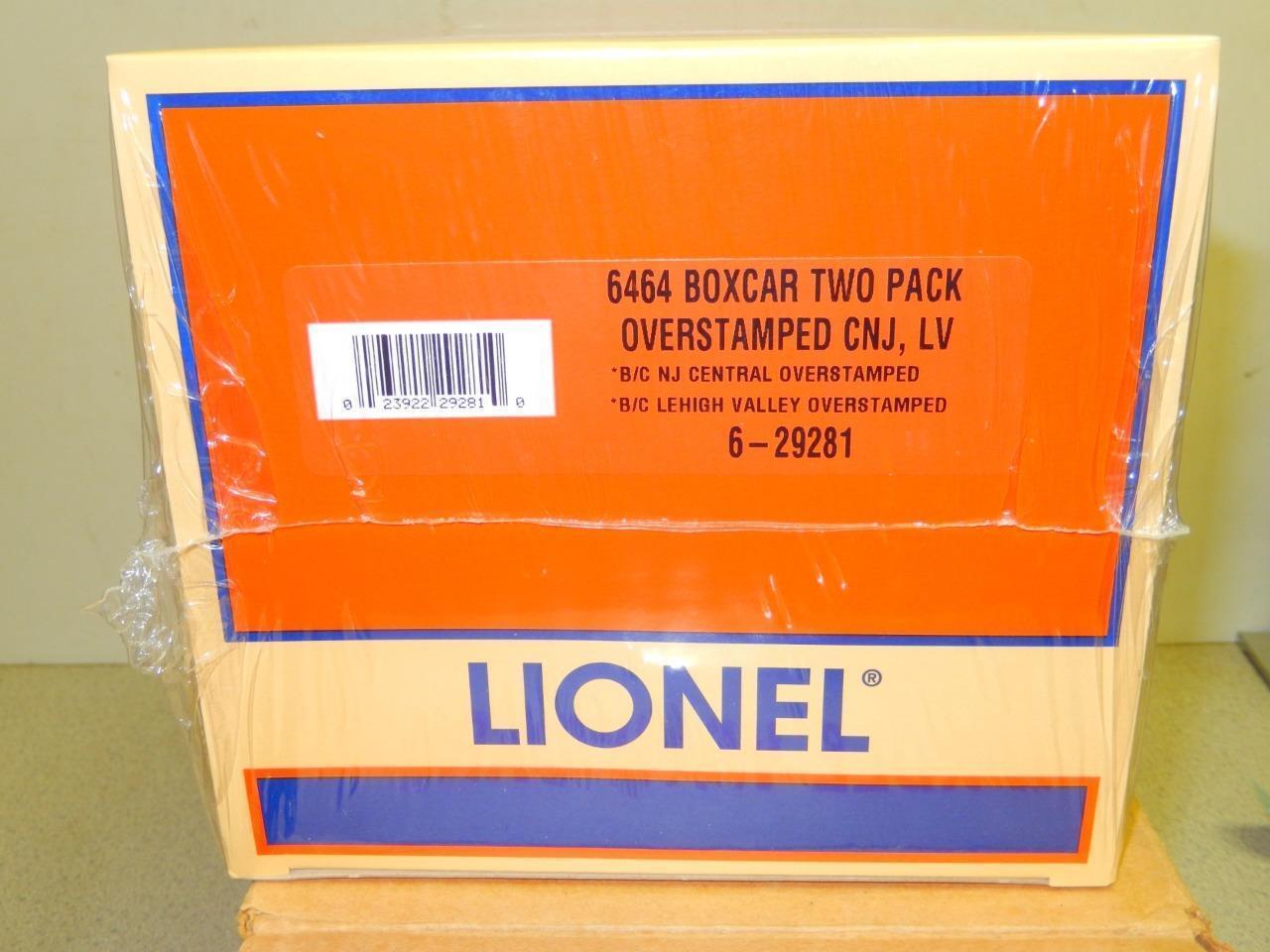 Lionel 29281- 6464 Overstamped Boxcar- Cnj & Lehigh Valley- 0 027- Neu W11