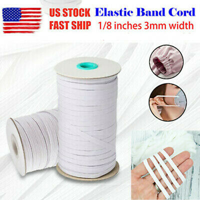 260Yards 1//8 inch 3MM DIY Braided Elastic Band Cord Knit Band Sewing USA SELLERS