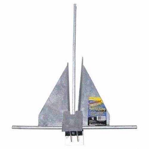 Poseidon SA-18 Rapid Set Anchor 18 Lbs For Boat 31/'-34/' Galvanized Marine MD