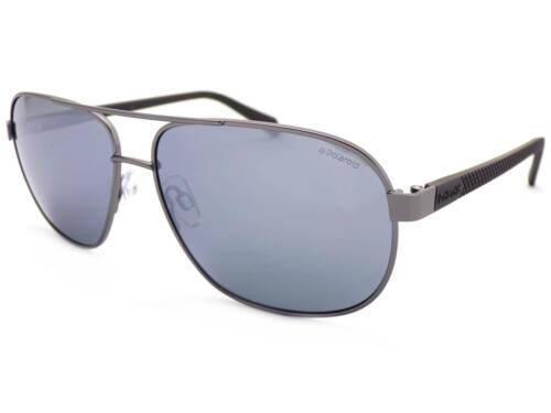POLAROID metal Ruthenium Black Sunglasses Polarized Mirrored Lenses PLD2059 R80