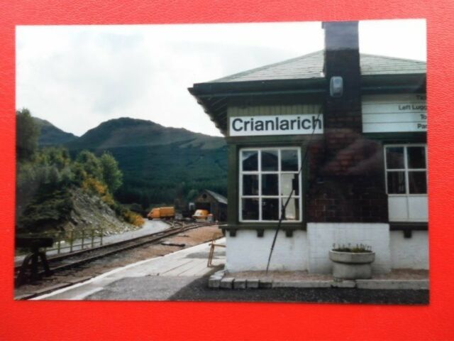 PHOTO  CRIANLARICH RAILWAY STATION 1985