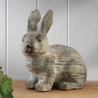 Large Shabby Chic Rabbit Ornament Sculpture