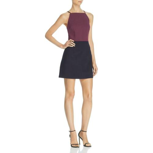 French Connection Womens Colorblock Mini Cocktail Party Dress BHFO 5364