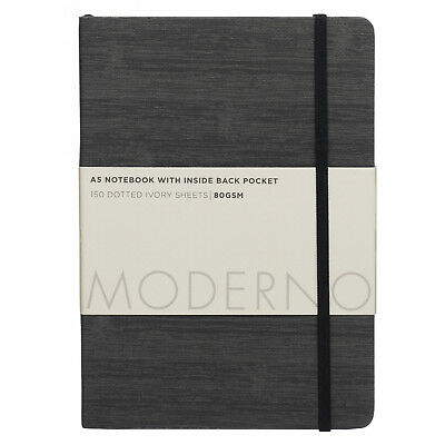 WHSmith Moderno Grey Soft Cover A5 Bullet Journal Glue Bound 150 Sheets
