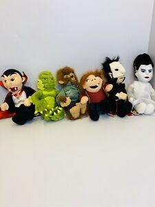 1999 Set Of 6 Universal Studios Monsters Plush 6 In NWT Bride Wolfman Creature +