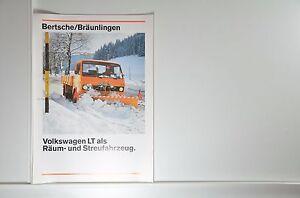 VW Volkswagen LT als Räum- und Streufahrzeug Bertsche Prospekt 06/1978