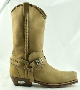 Détails sur LOBLAN 548 Tan en cuir beige pour homme bottes cowboy BIKER Square Chisel Toe Western afficher le titre d'origine
