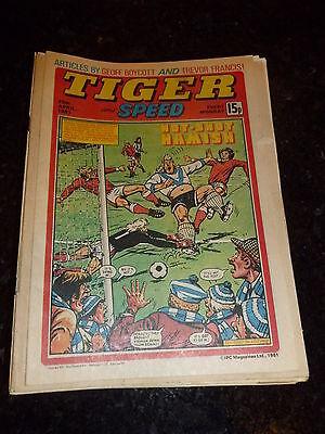 TIGER /& SPEED Comic Date 22//08//1981 UK Paper Comic