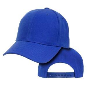 Image is loading Royal-Blue-Youth-Plain-Blank-Adjustable-Tennis-Baseball- 83284e6e9eb