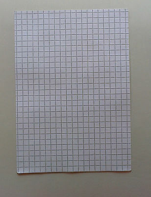A4 cm square paper 20 sheets of 1cm//10mm square paper