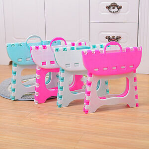 Image Is Loading Plastic Home Children Folding Step Kids Chair Kitchen