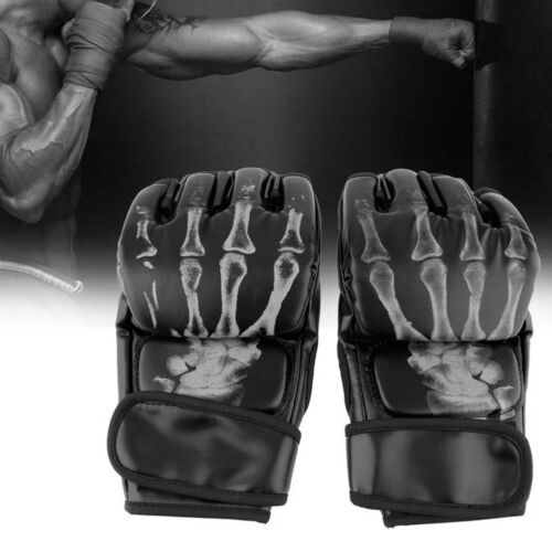 EG_ MMA UFC Sparring Grappling Fight Boxing Punch Mitts Faux Leather Gloves Surp