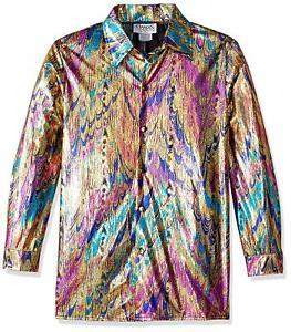Disco Shirt Adult Halloween Fancy Dress