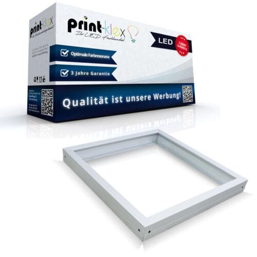 Premium LED Panel Rahmen in 60x60cm Deckenbefestigung Rahmen Weiß Color Serie