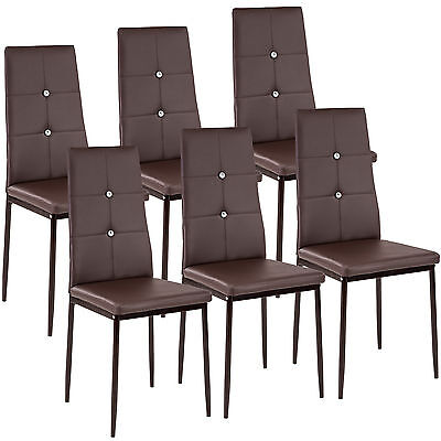 modern dining room chairs leather | 6 Modern dining chairs dining room chair table faux ...
