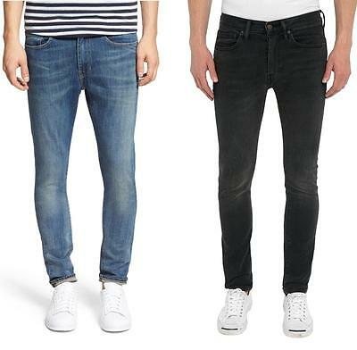 Levis 519 Extreme Skinny Fit Jeans Mens Low Rise Cotton Blend Stretch Denim