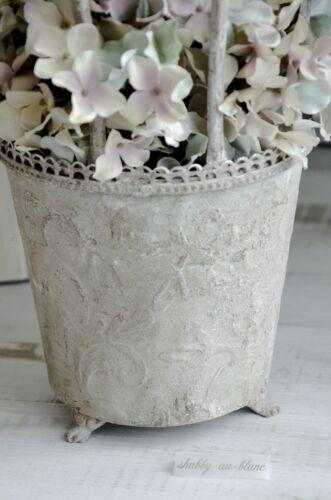 Übertopf Blumentopf Metalltopf Pflanzschale Jardiniere Shabby Chic Vintage