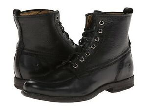 Frye Womens Phillip Work Boot Black Soft Vintage Leather - Boots