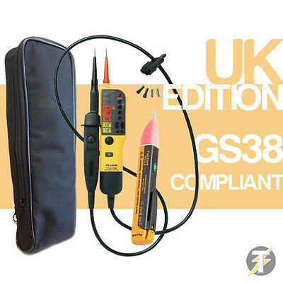 Fluke T130 Voltage /& Continuity Tester KIT1W with 1AC Voltstick and LDMC1 Case
