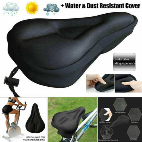 Black Mountain Bike Comfort Gel Pad Bicycle Comfy Cushion Saddle Seat Cover