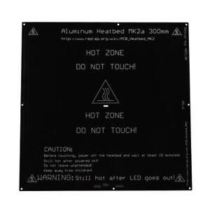 Importé De L'éTranger Mk2a 300x300x3mm Aluminum Heatbed Hot Plate For Mendel For 3d Printer