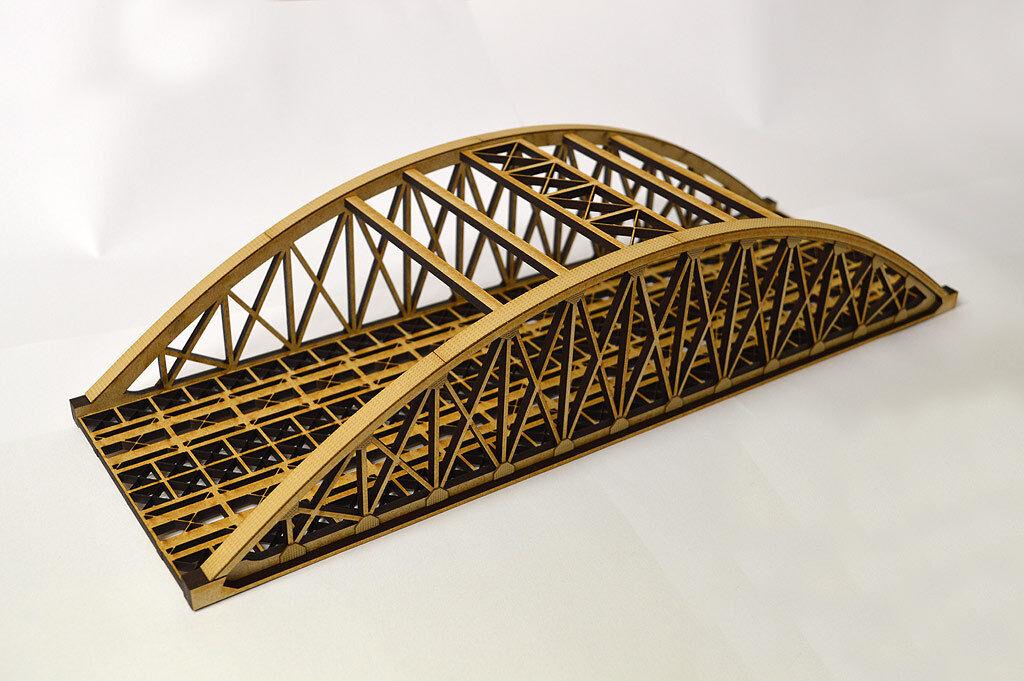 Las ventas en línea ahorran un 70%. Corte Con Laser Laser Laser Doble Cuerda Puente N Scale 1 148 Model Railway - lx076-n  40% de descuento