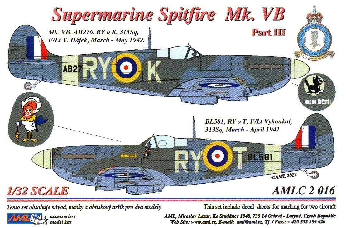 EagleCals Decals 1//72 SUPERMARINE SPITFIRE Mk.IX Fighter Part 3