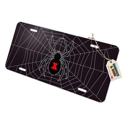Black Widow Spider In Web Photo License Plate