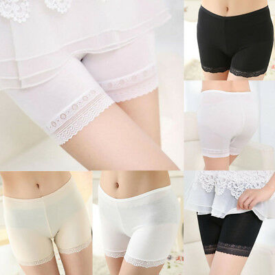 US STOCK Womens Safety Shorts Soft Lace Seamless Breathable Leggings Pants Short
