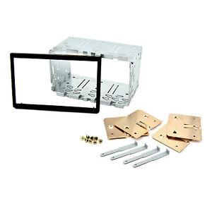 2DIN-Doppel-DIN-Metall-Rahmen-Einbauschacht-Radioblende-Einbaurahmen