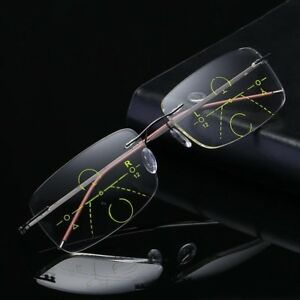 6ba9b194fe1 Image is loading Reading-Glasses-Progressive-Multifocal-Lens-Presbyopia -Anti-Fatigue-