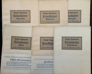 Sepp-Summer-5x-Loens-Lieder-zur-Gitarre-1x-Finckh-Lieder-1924-Noten-Texte